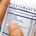 Dietary supplement composition on a label